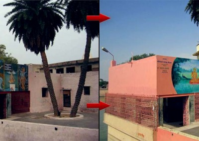 Before + after renovation and painting